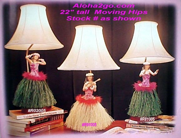 hula hawaiian lamps light fixtures - aloha2go.com